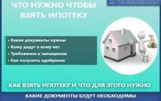 Что нужно чтоб взять ипотеку