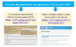 Образец заполнения декларации при упрощенной системе налогообложения