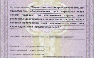 Получение лицензии на пассажирские перевозки автобусом
