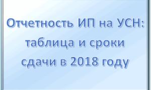 Сдача отчетности для ИП в 2018 году